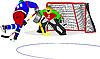 Vektor Cliparts: Eishockey-Spieler