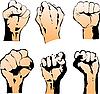 Sechs Fäuste