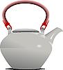 Векторный клипарт: Белый заварочный чайник