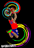 Vector clipart: Poster of Basketball player