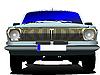 Векторный клипарт: старинный синий автомобиль