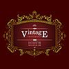 Vector clipart: Invitation vintage card