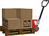 Vector clipart: Industrial forklift with boxes