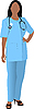 Vector clipart: Nurse woman with stethoscope