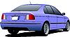 파란 세단 자동차 | Stock Vector Graphics