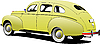 Vector clipart: 1950`s Luxury sedan
