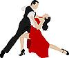 情侣舞蹈探戈 | 向量插图