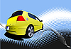 Vector clipart: Yellow car sedan