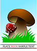 Vector clipart: Two mushrooms