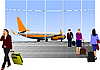 Airport scene | Stock Vector Graphics