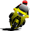 Vector clipart: Biker on the road