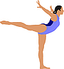 Vector clipart: Woman doing gymnastic exercises