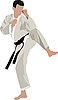 Vector clipart: Karate sportsman