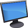 Vector clipart: Flat computer monitor. Display