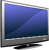 Векторный клипарт: Плоский монитор компьютера. Дисплей