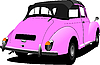 Vector clipart: Pink vintage car