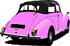 Векторный клипарт: Розовый старинный автомобиль