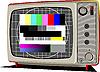 Vector clipart: Retro TV-set