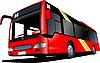 Векторный клипарт: Красный городской автобус