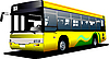 Vector clipart: Yellow city bus
