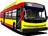 Vector clipart: Red yellow city bus