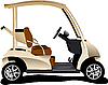 Vector clipart: Electrical golf cart