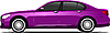 Vector clipart: Purple car sedan
