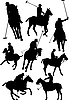 Vector clipart: polo player silhouette