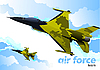 Vector clipart: Air force jet fighters