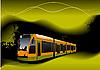 Векторный клипарт: трамвай