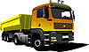 Векторный клипарт: Желтый грузовик