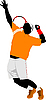 Vector clipart: Man Tennis player