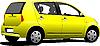 Векторный клипарт: Желтый седан