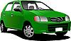 Векторный клипарт: Зеленый седан