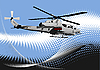 Vector clipart: Air force. Combat helicopter