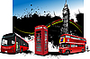 Vector clipart: London buses