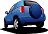 Vector clipart: Blue car minivan