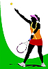 Vector clipart: Woman tennis player