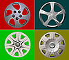 Vector clipart: rims of auto wheel