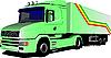 Векторный клипарт: зеленый грузовик