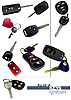 Set of ignition car keys with remote control