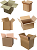 Векторный клипарт: Набор картонные коробки