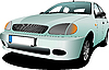 Vector clipart: Light blue car