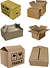 Set of carton boxes | Stock Vector Graphics