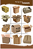 Vector clipart: Set of carton packaging boxes