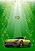 Vector clipart: Wedding yellow car