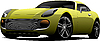 Vector clipart: Yellow sport car