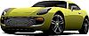Coche deportivo amarillo | Ilustración vectorial