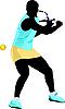 Vektor Cliparts: Tennis-Spielerin