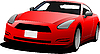 Vector clipart: Red car coupe